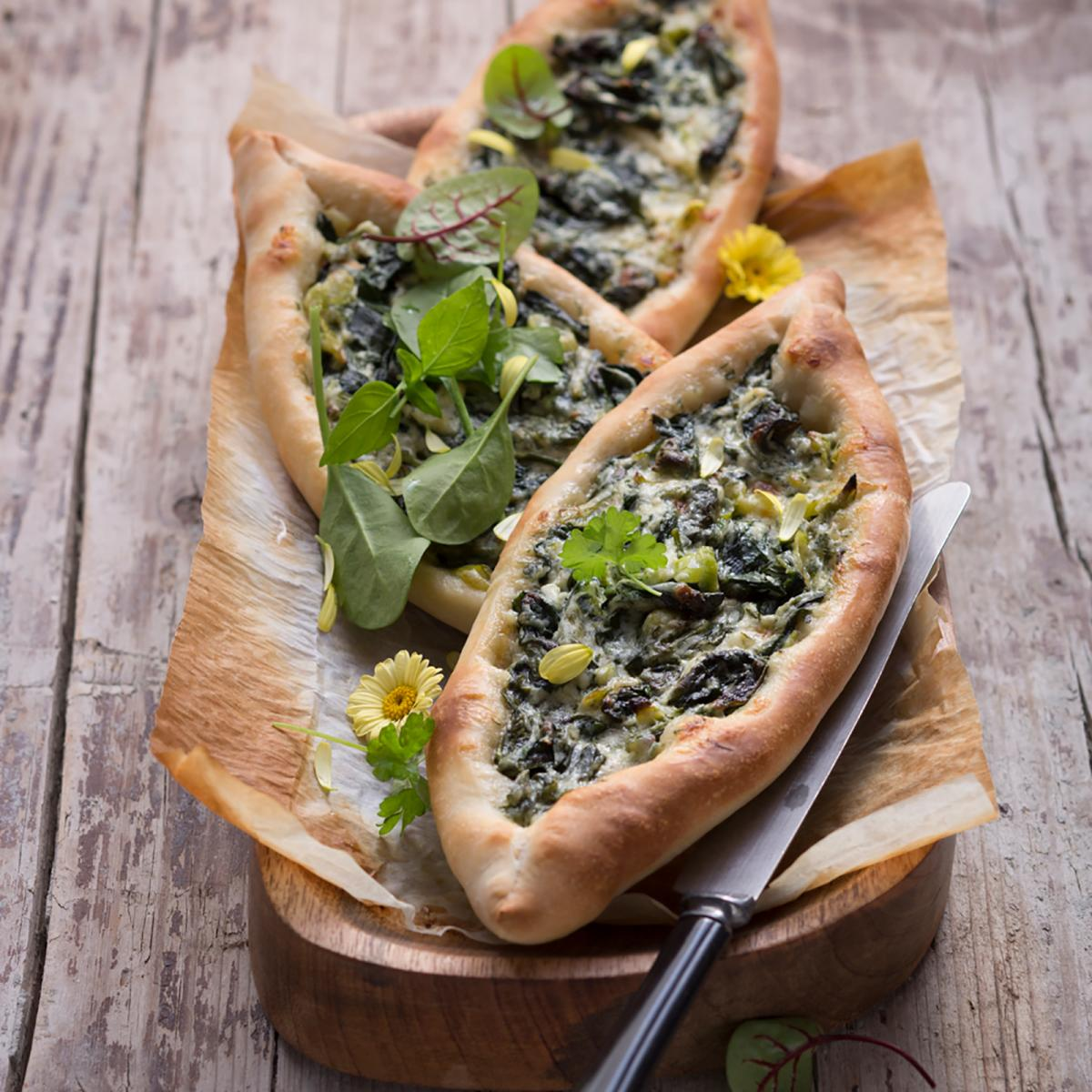 Wewalka Recipe - Spinach Pide with Herbs