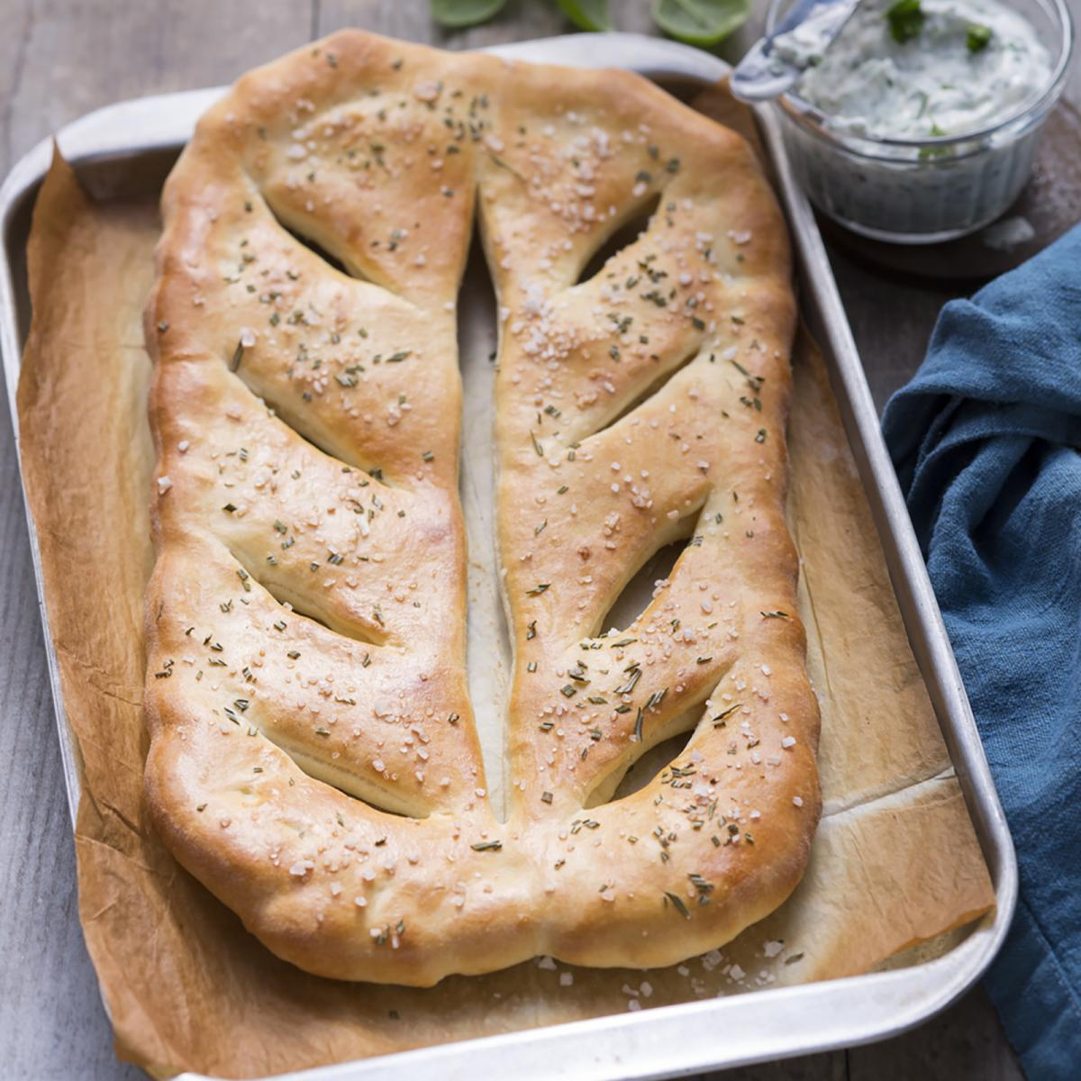 "Wewalka Recipe - French Pizza ""Fougasse"" Pizza Bread"