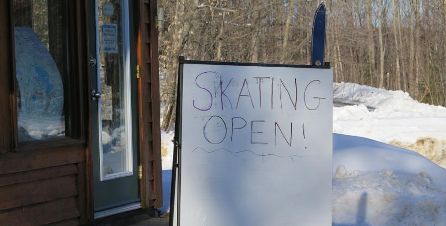 Road trip To Arrowhead's ice skating path