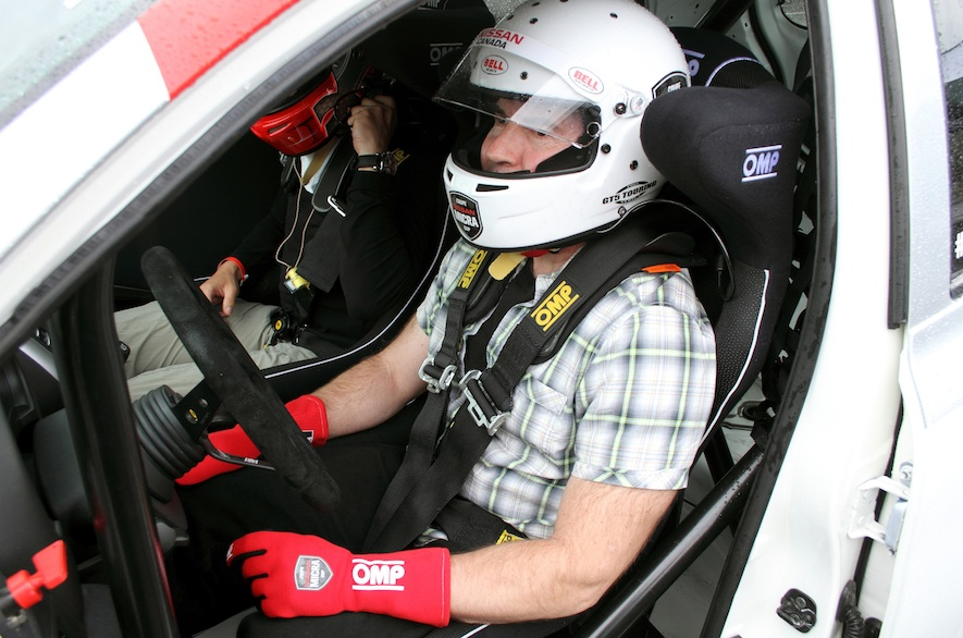 2015 Nissa Micra Cup- Neil in driver's seat