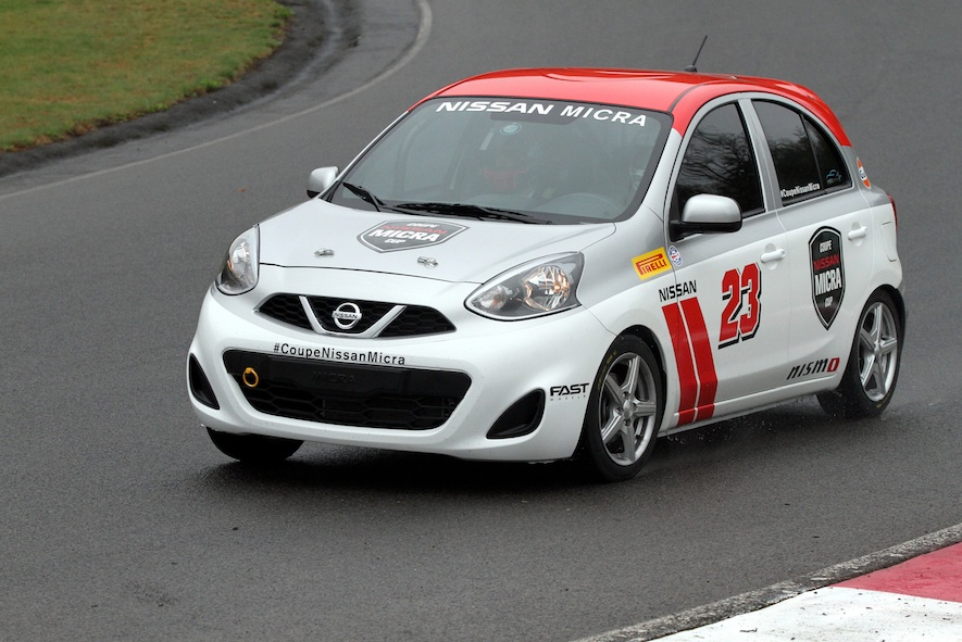 2015 Nissan Micra Cup on a race track