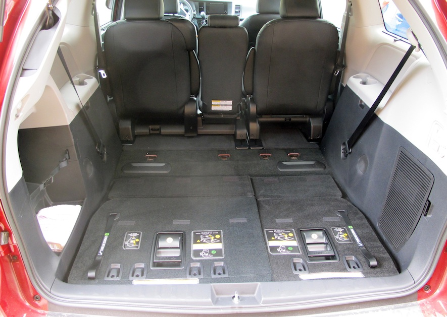 2017 Honda Odyssey Configurations >> Toyota Sienna Interior Cargo Dimensions ...