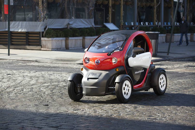Nissan shows micromobility in new york for Motorized wheelchair rental nyc