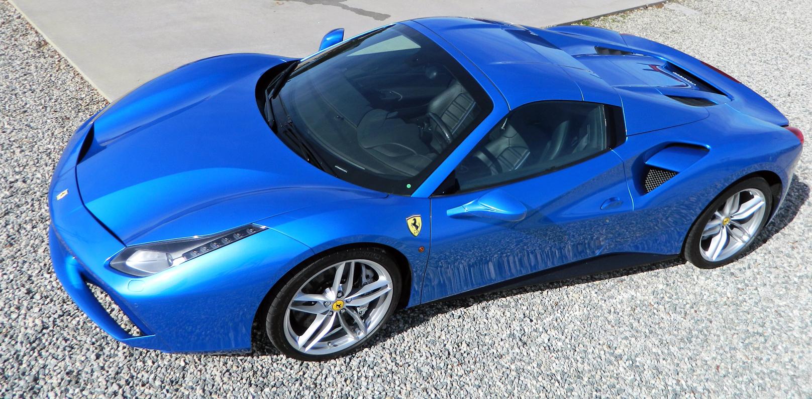 Icons Of Speed Picking Up The Blu Corsa Ferrari 488 Spider Wheels Ca