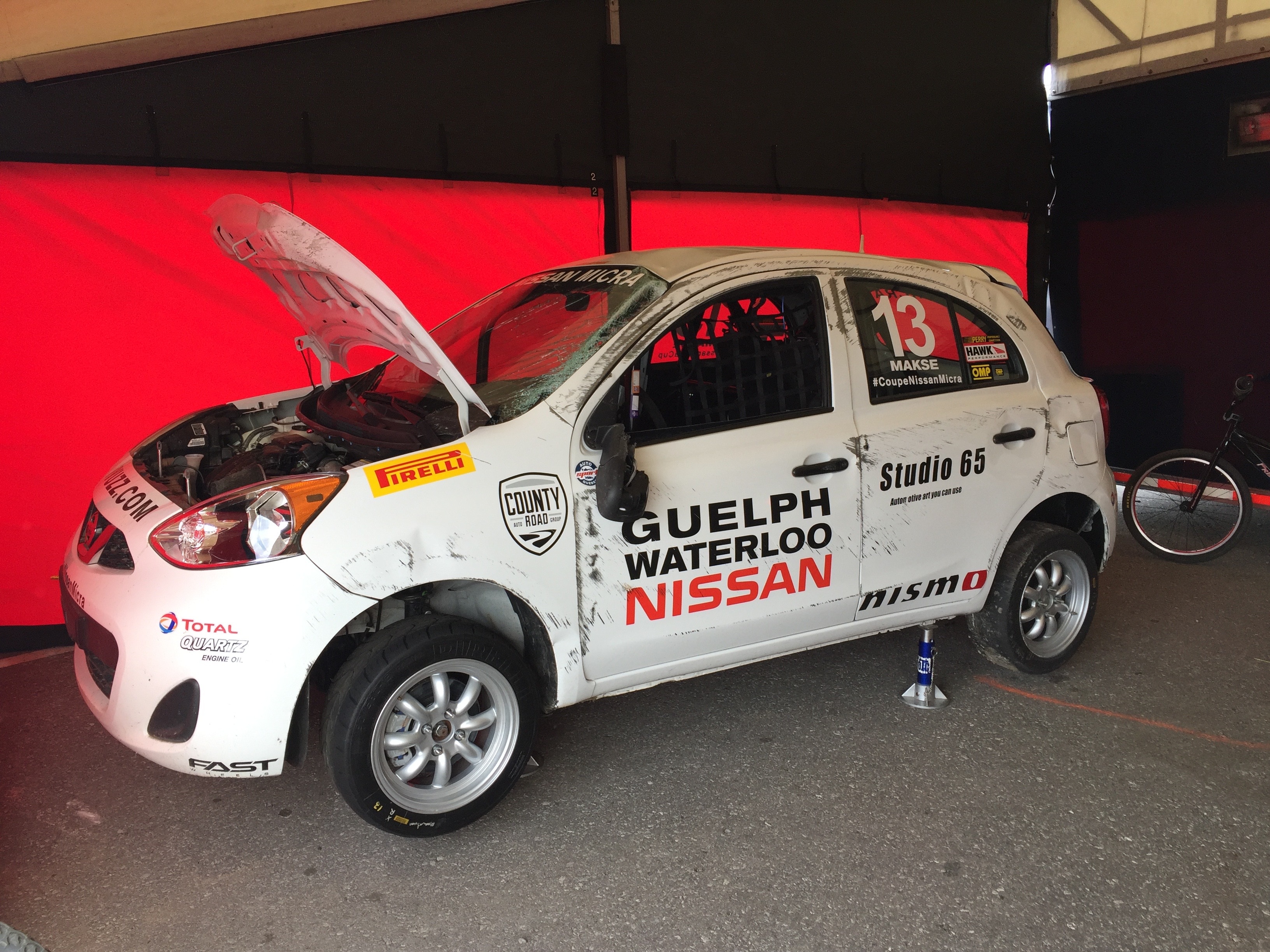 nissan micra cup crash