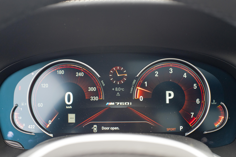 2018 M760Li xDrive sport mode