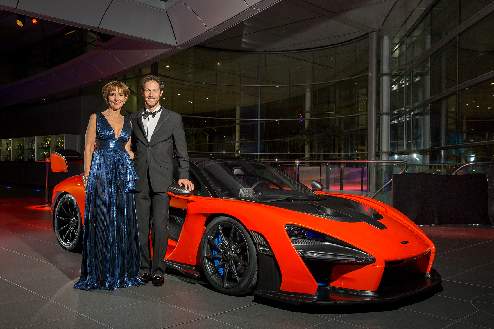 TrackWorthy - Viviane Senna da Silva Lalli and Bruno Senna with McLaren Senna