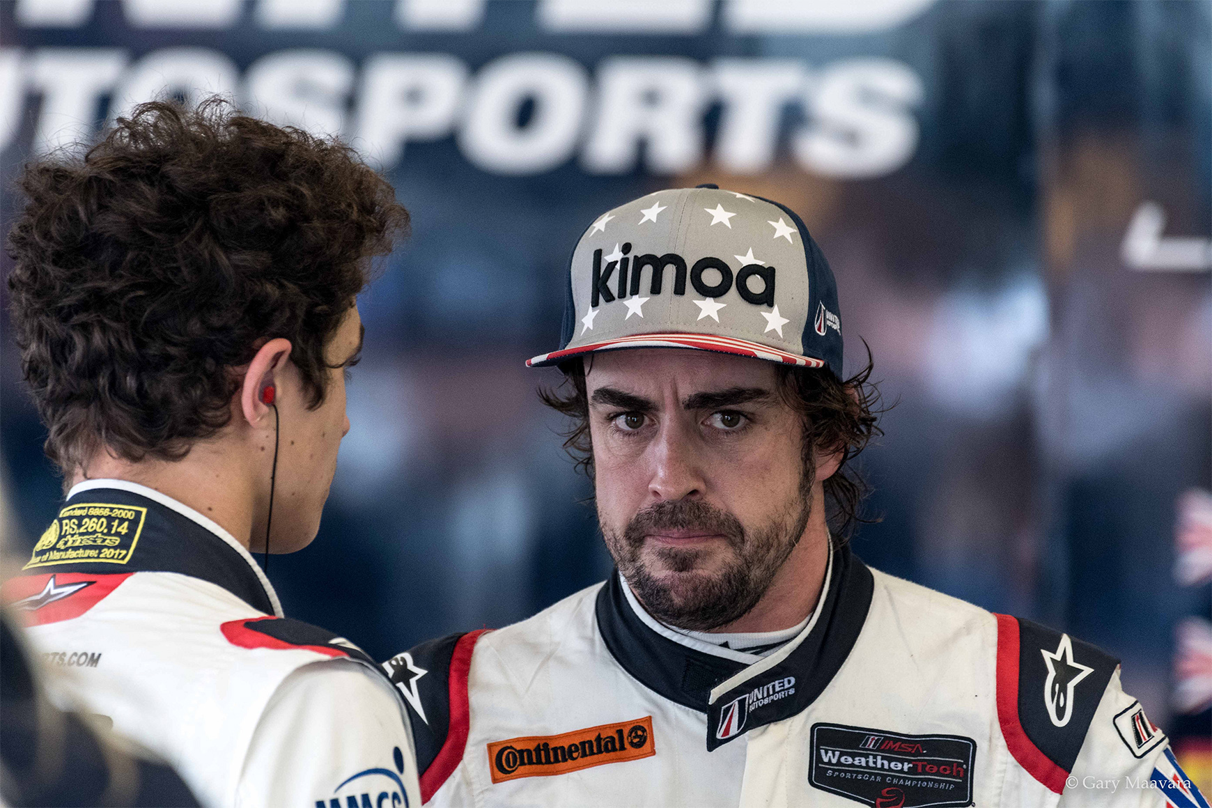 Rolex 24_race_Fernando Alonso_angry stare