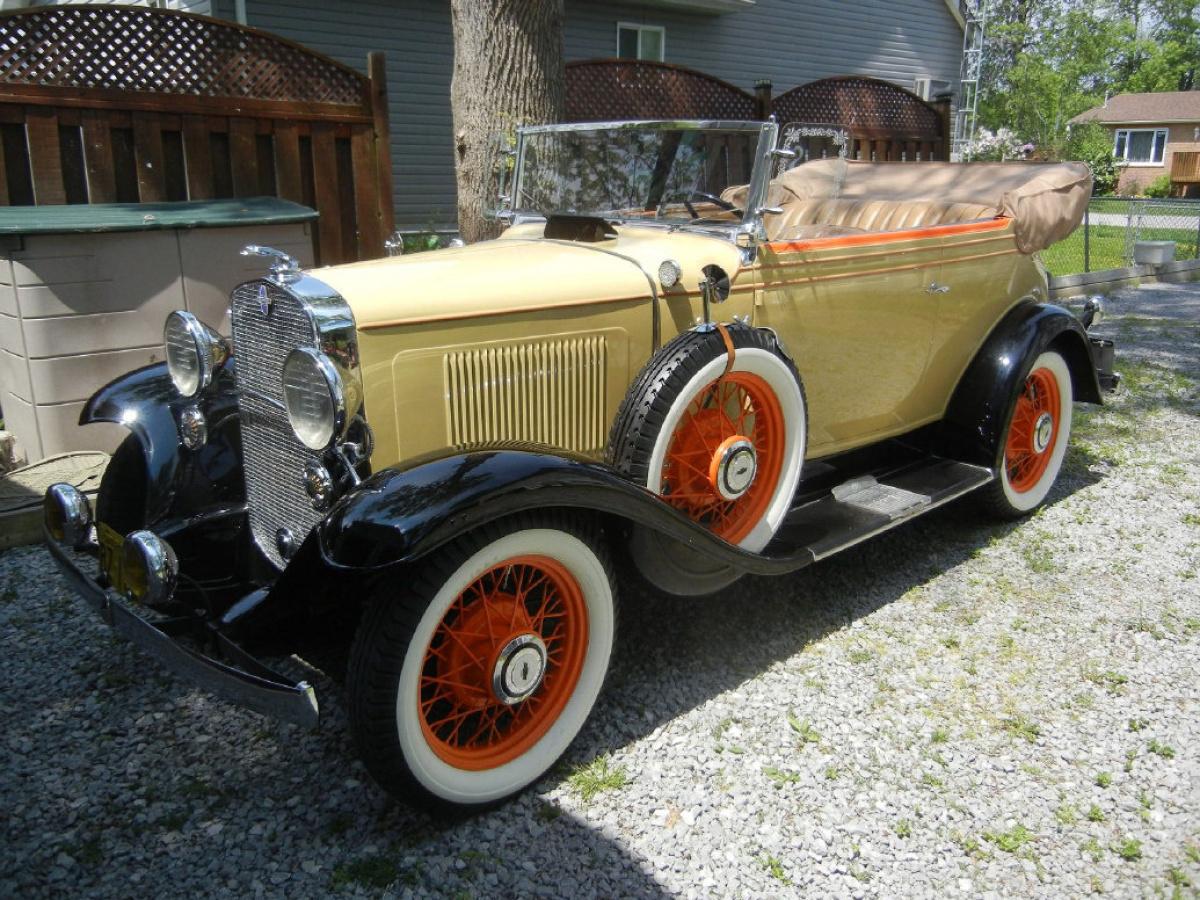 Eye Candy 1931 Chevrolet Deluxe Landau Phaeton 1930 Chevy Sedan Spare Tire Mount