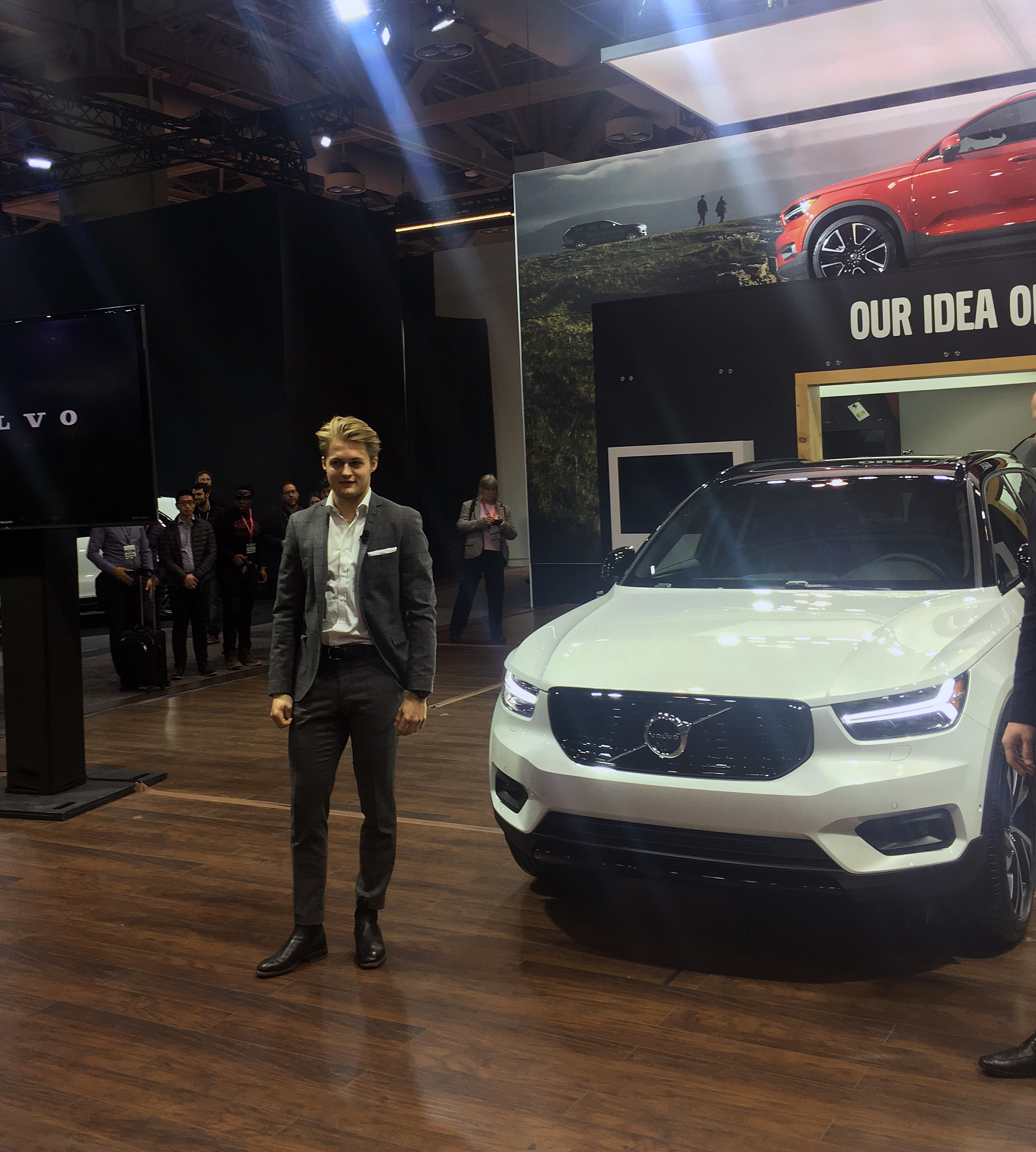 Largest Volvo Suv: Nylander Scores For Volvo At AutoShow