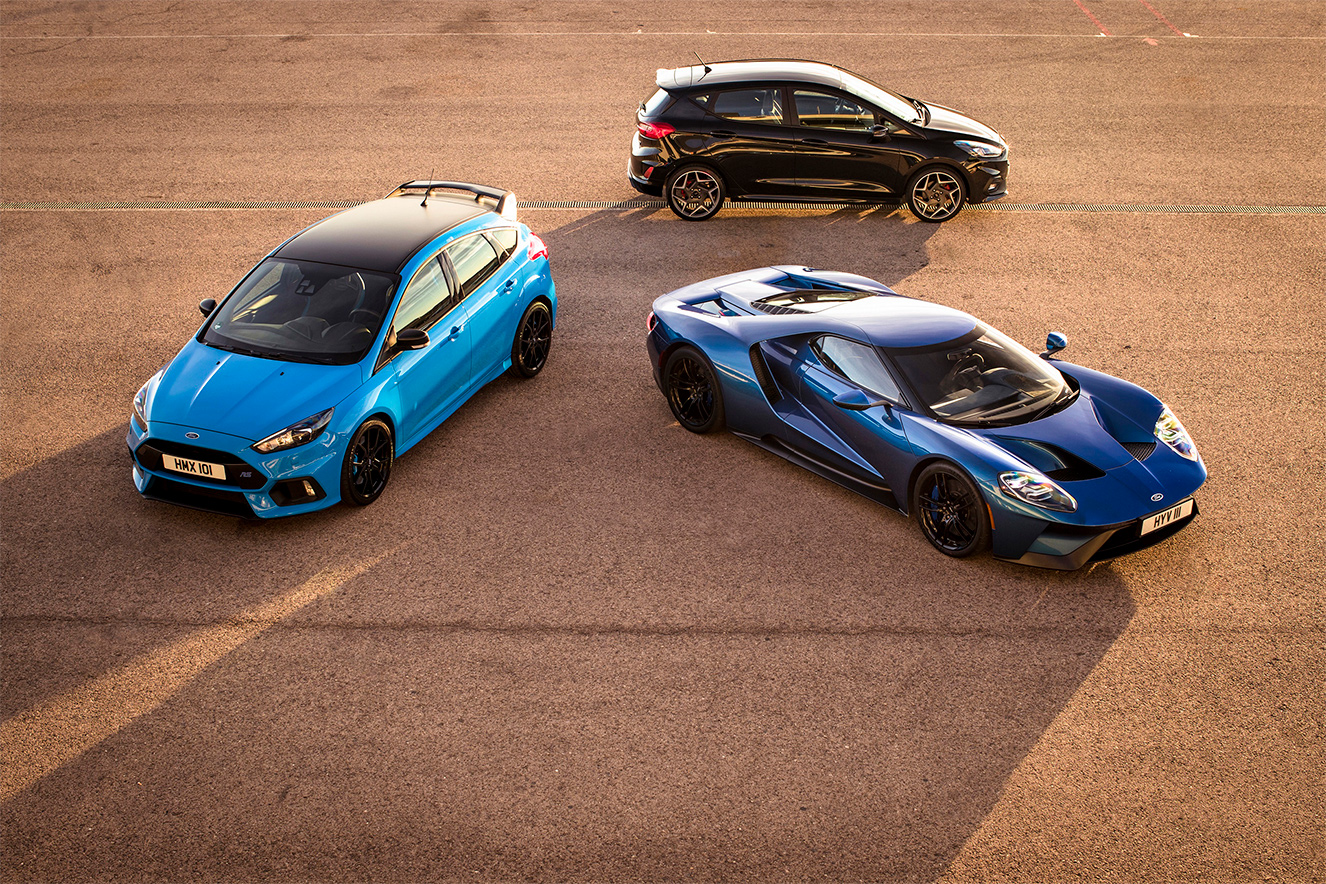 TrackWorthy - Fiesta ST meets Focus RS and Ford GT