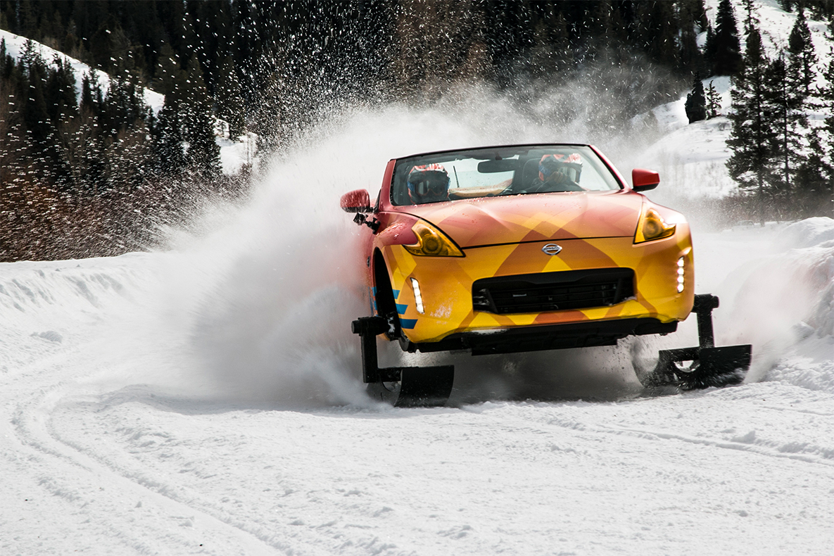 TrackWorthy - Nissan 370Z Roadster Snowmobile - The 370Zki (1)
