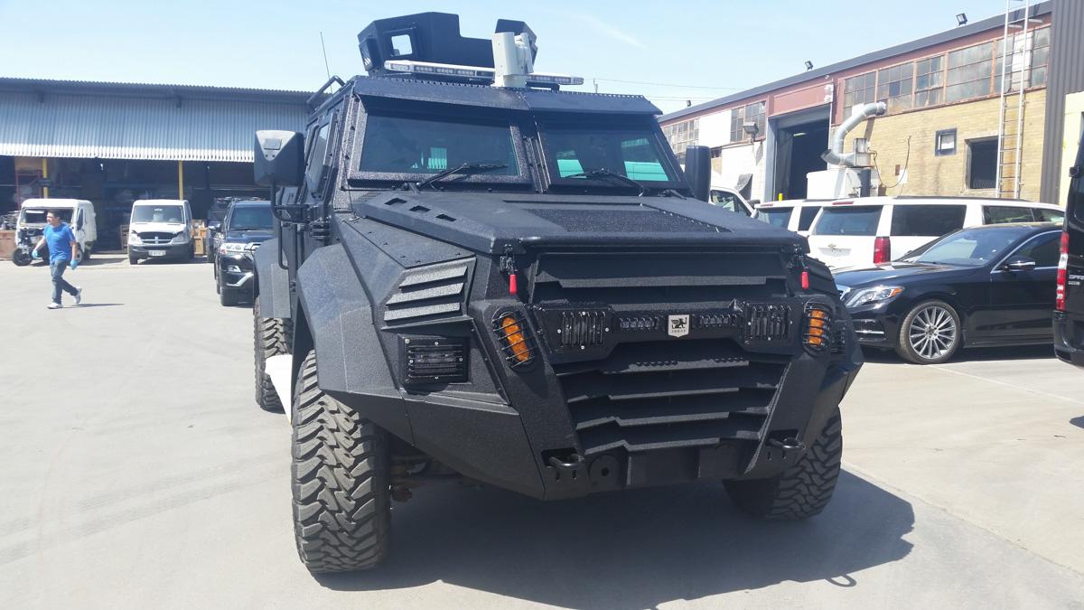 Inkas Sentry APC pickup truck