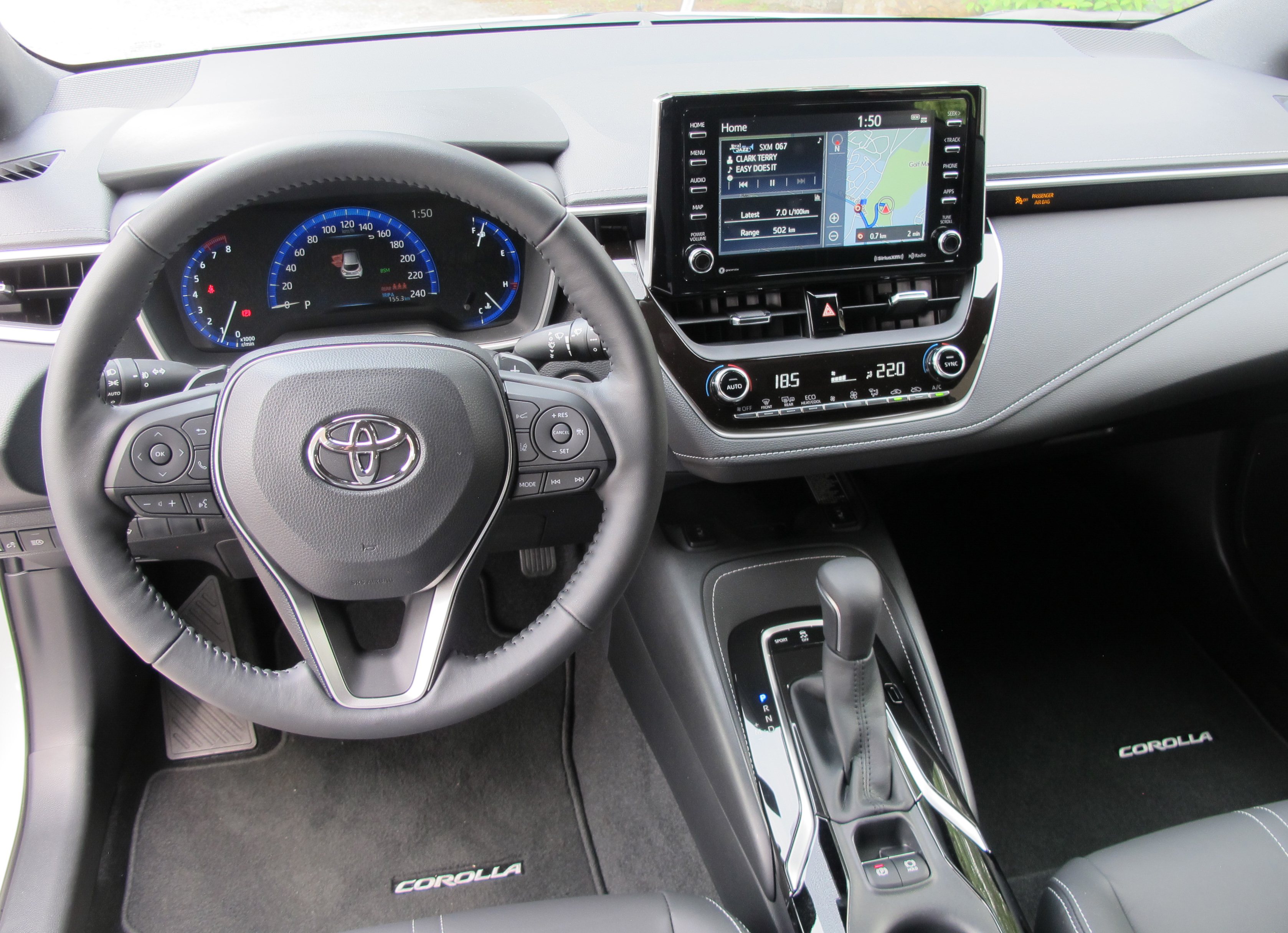 First Drive 2019 Toyota Corolla Hatchback Steering Wheel