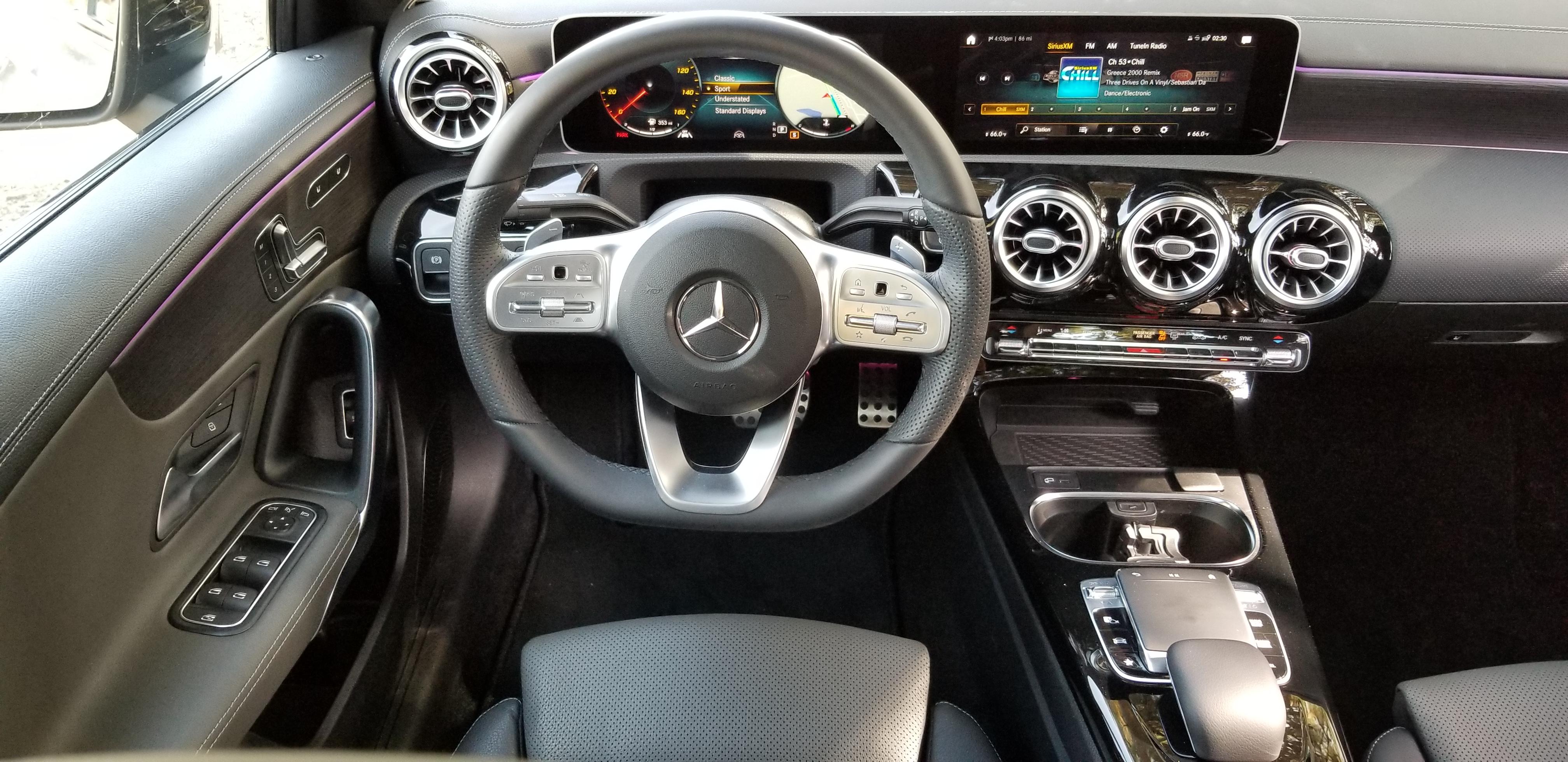 2019 Mercedes A-Class Sedan interior