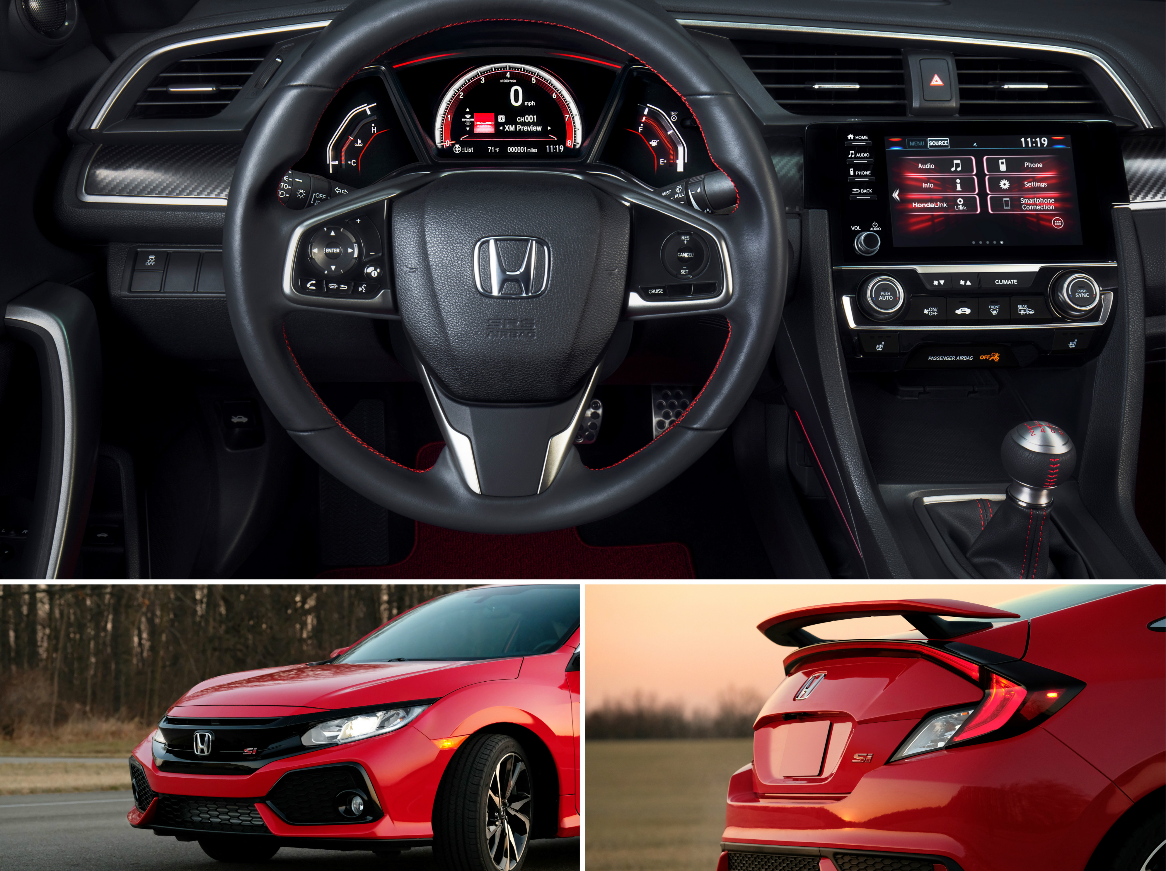 2019 Honda Civic Si Sedan and Coupe