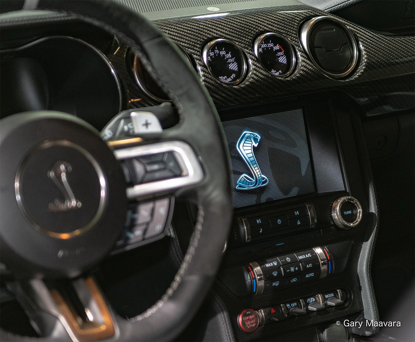 TrackWorthy - CIAS_Ford Mustang Shelby GT500_dash screen with cobra