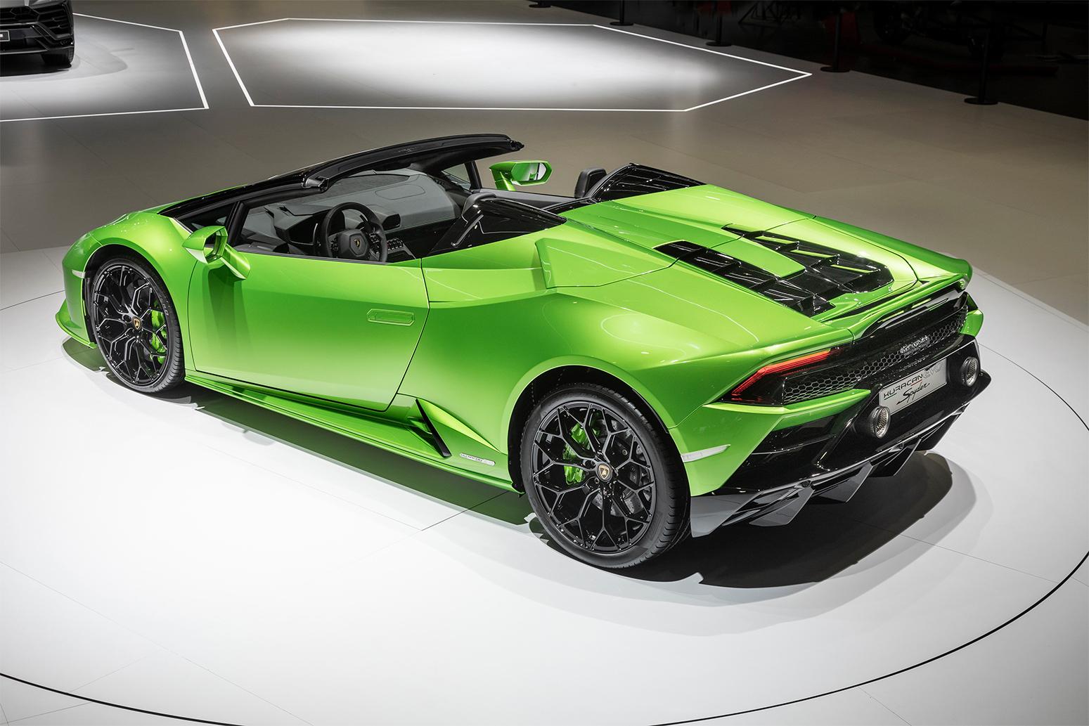 Lamborghini Huracan Evo Spyder And Aventador Svj Roadster Unveiled