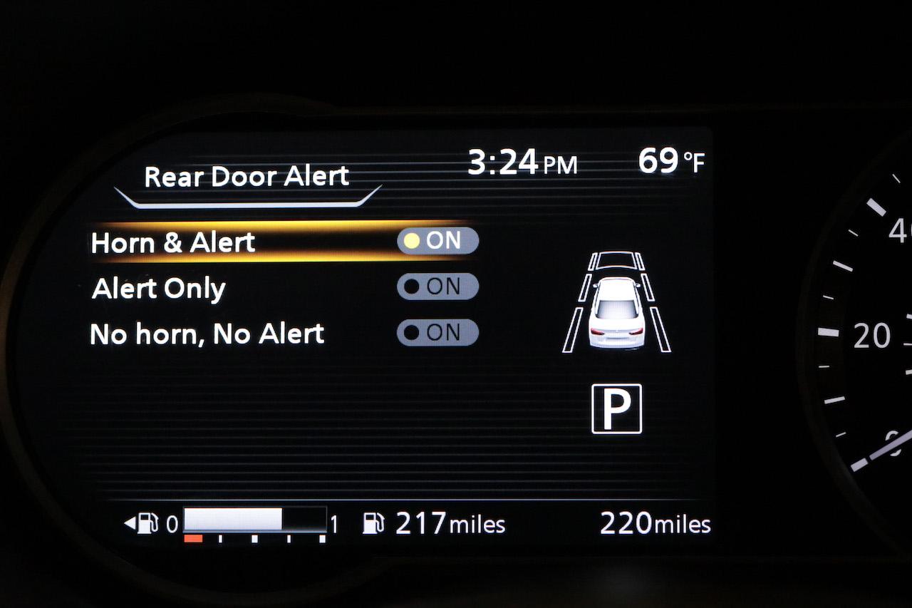 Rear Door Alert