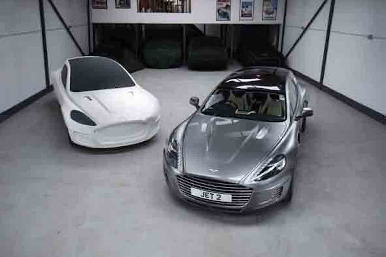 Weir is selling not just his one-off Aston, but the moulds, the clay model, and everything else.