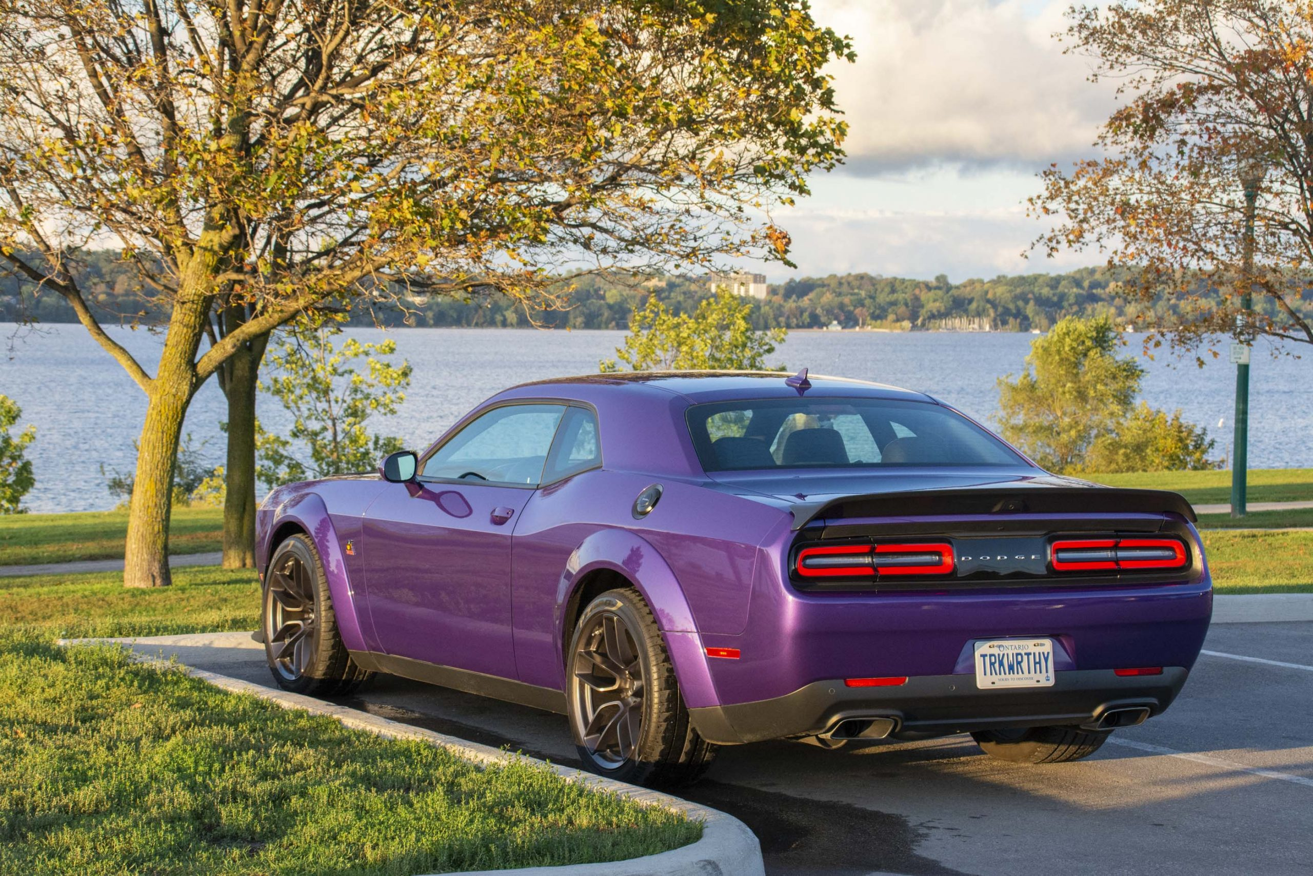 2019 Dodge Challenger Scat Pack 392 Widebody is Plum Crazy