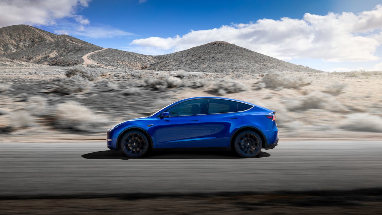 Tesla Model Y contact-less deliveries