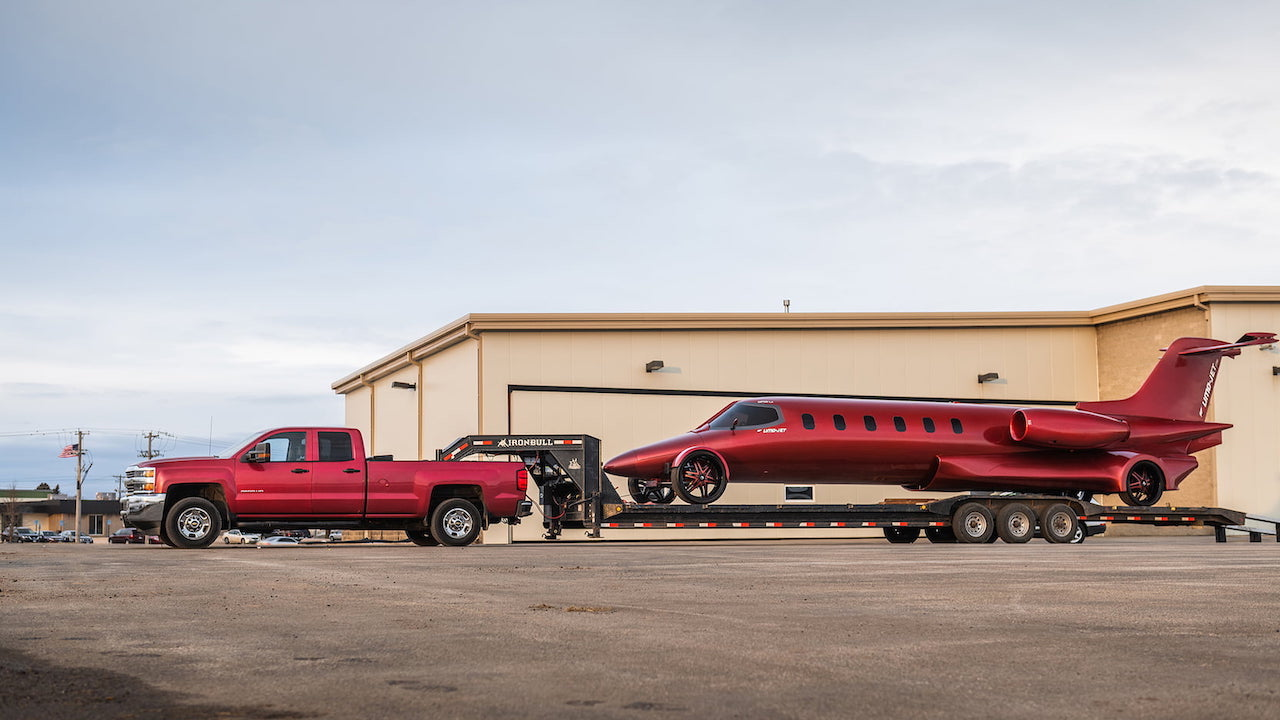 It's called the Learmousine, a play on Learjet and limo.