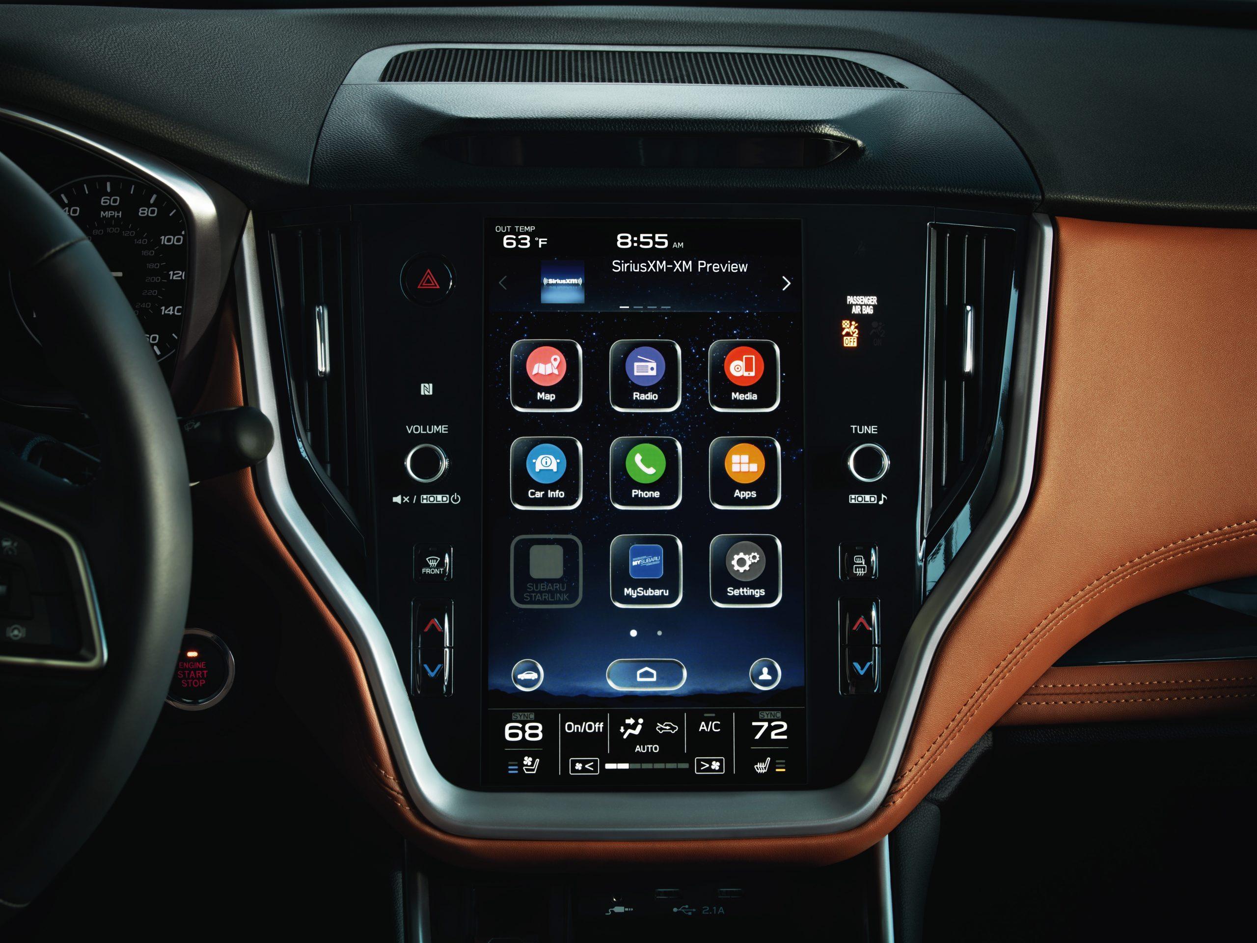 Subaru touchscreen