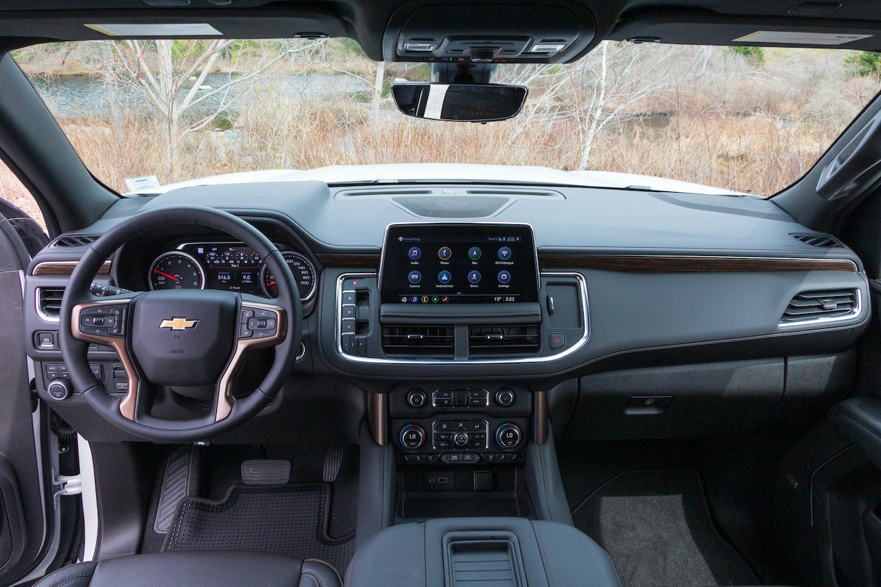 2021 Chevrolet Suburban High Country Body Style: Four-door SUV Drive Method: Front-engine, 4x4 Engine: 3.0-litre Inline-six turbodiesel, 277 hp @ 3,750 r.p.m., 460 lb-ft @ 1,500 r.p.m. Fuel Economy: (diesel) 12.0 L/100 km city, 8.9 highway Cargo Volume: 1,164 litres behind third row, 4,106 litres behind first row Price: MSRP (LS Diesel) $60,048. High Country Diesel $84,448. As tested $91,463 (includes $5,805 High Country Deluxe, $165 illuminated emblem, $1,195 iridescent pearl, $400 sliding console) not including destination