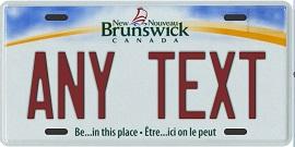 New Brunswick Plates