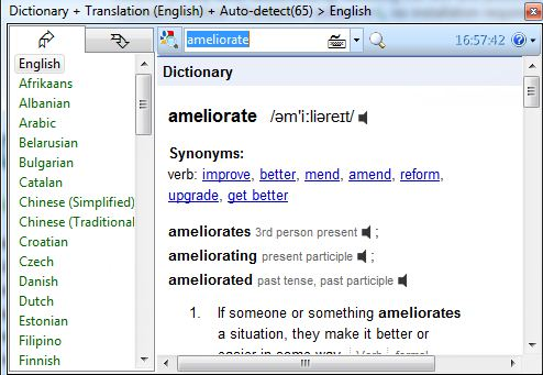 Dictionary.Net is a Free Dictionary and Translation Tool