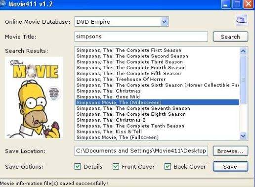 Search and Download Movie Information and Box Art with Movie411