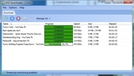 Download streaming videos with vso downloader.