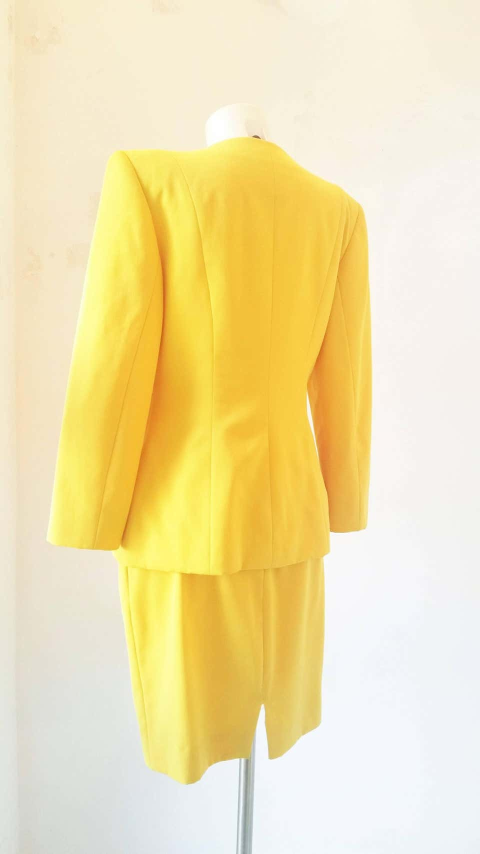 1980s Christian Dior yellow suit CHRISTIAN DIOR   Suit   VXR016100GIALLO