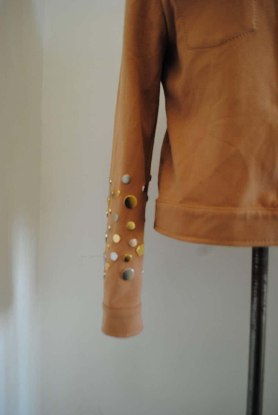 Fendi jacket with studs Fendi | Giacca | VXR01518CAMMELLO