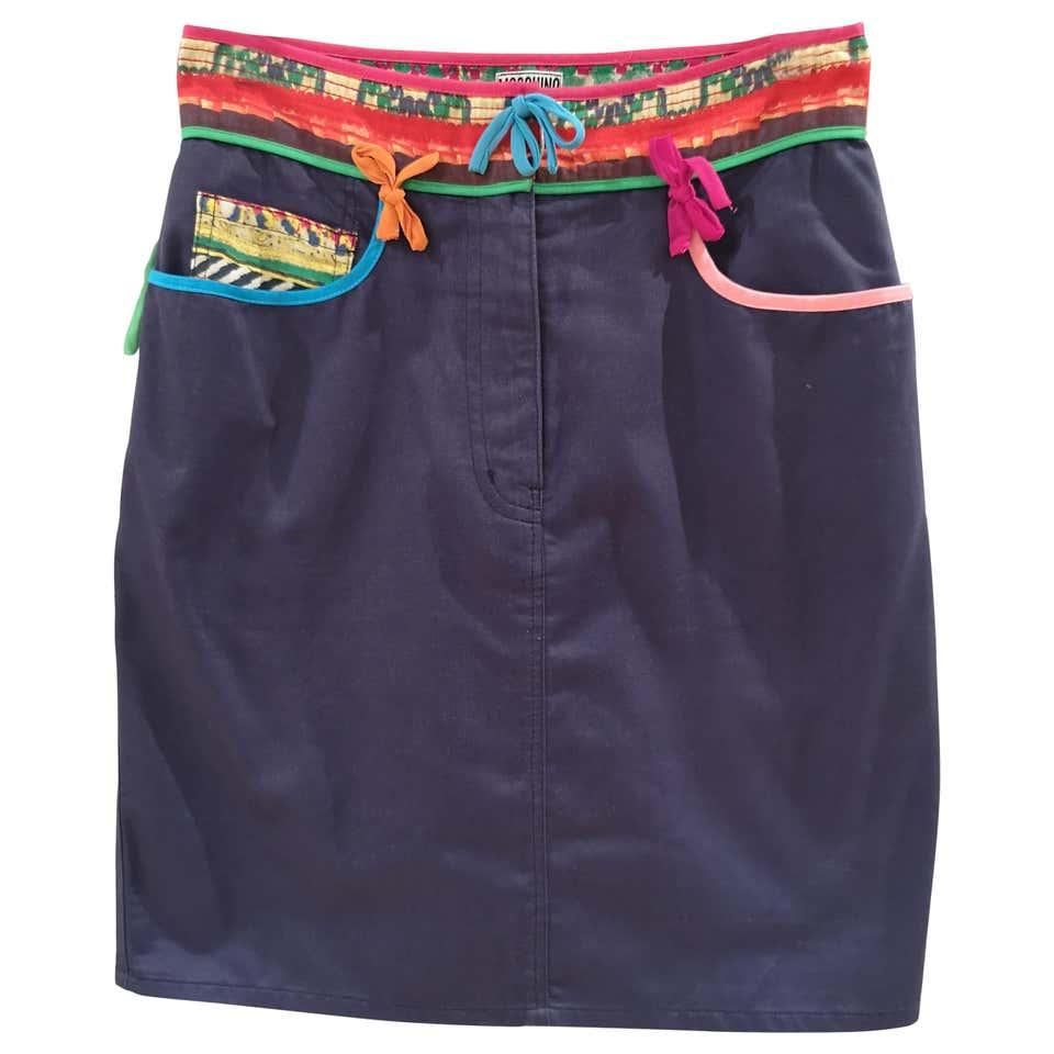 Moschino blue cotton skirt moschino | Skirt | VXR01228FIOCCHI