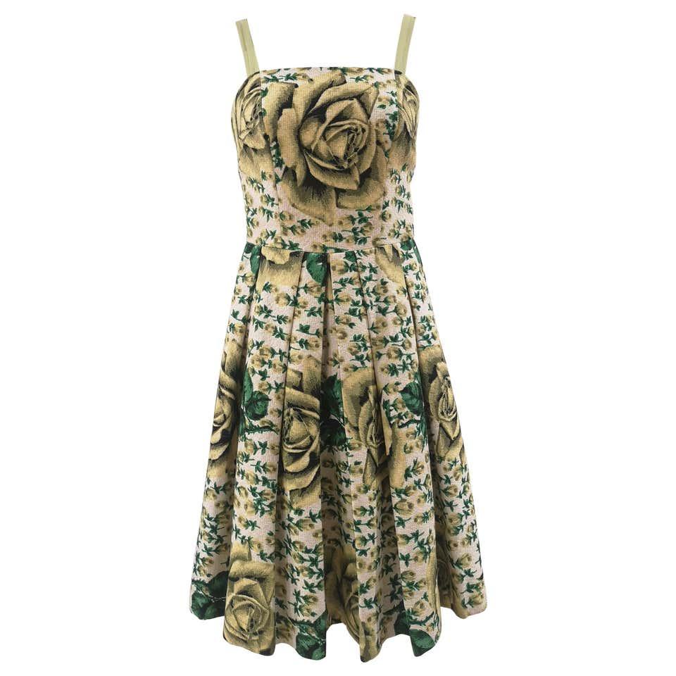 Vintage yellow green cotton dress VIntage | Dresses | VXR01318AMULE