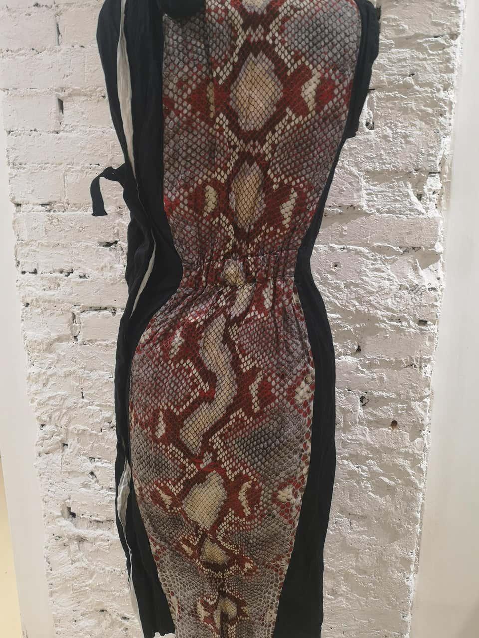 Prada Duchesse Antique Dress Snake print dress Prada | Abito | BF02X0150EVNERO