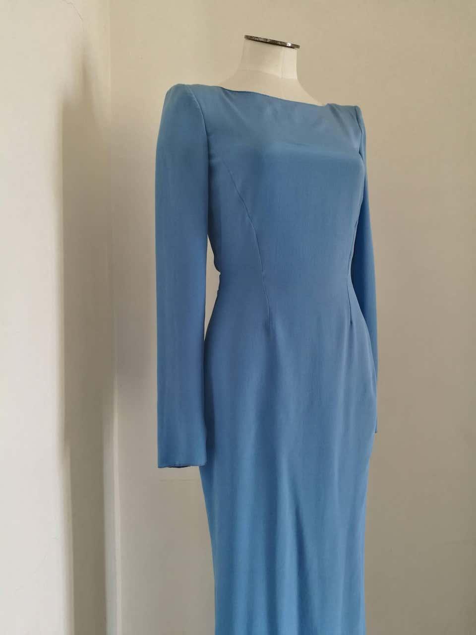 Rare Versace Light Blu Long Dress Versace   Abito   FDG0170150CELESTE