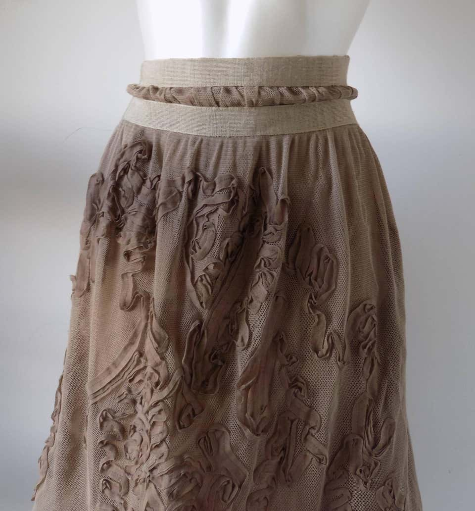 1980s Philosophy by Alberta Ferretti light brown / nude skirt NWOT Alberta Ferretti | Gonna | VXR016015BEIJE