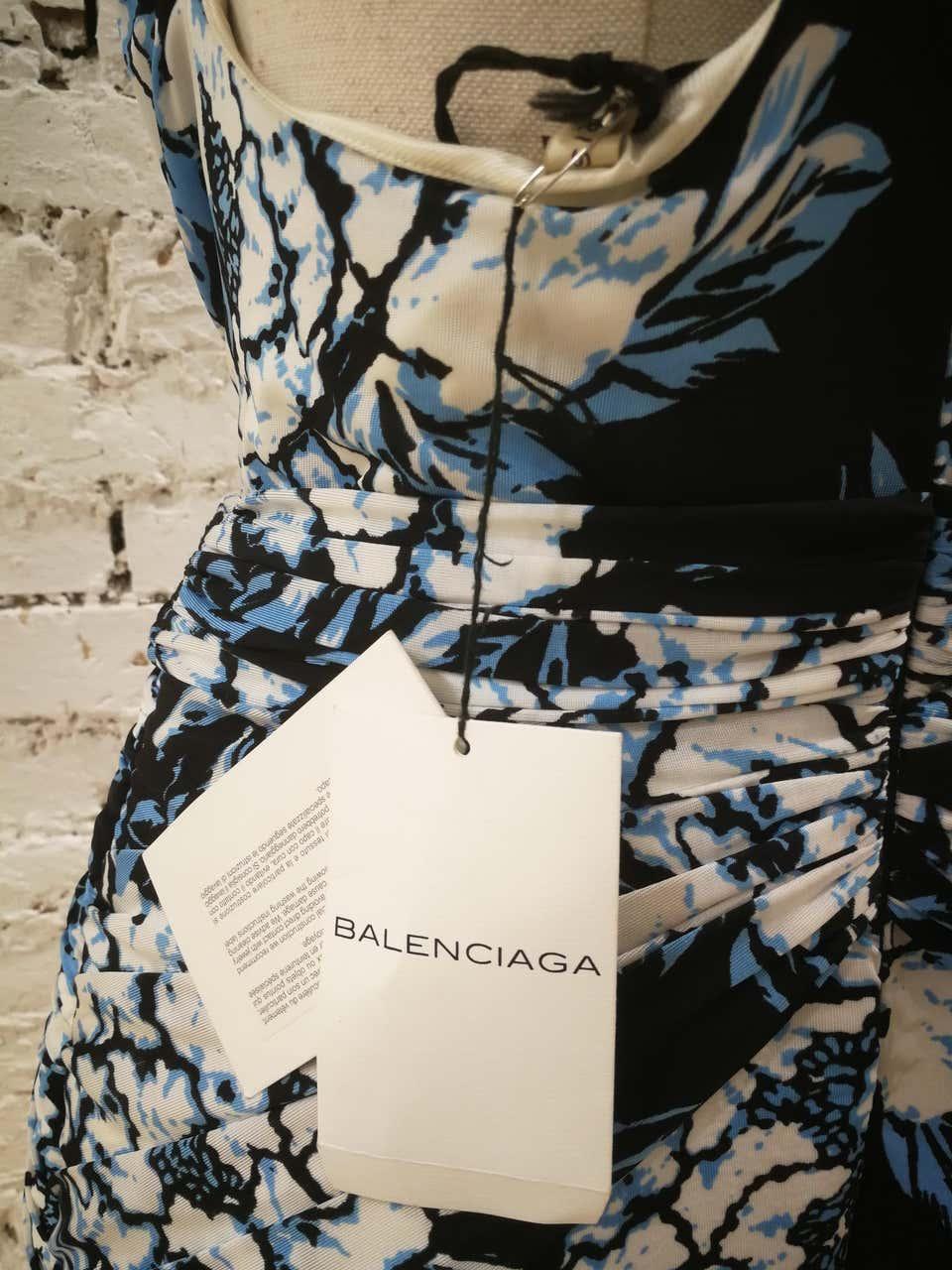 Balenciaga multicoloured Viscose Dress NWOT Balenciaga | Abito | BF01880XXBLU MULTI