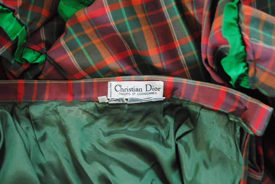 Christian Dior   Gonna   VXR01608012SCOZZESE