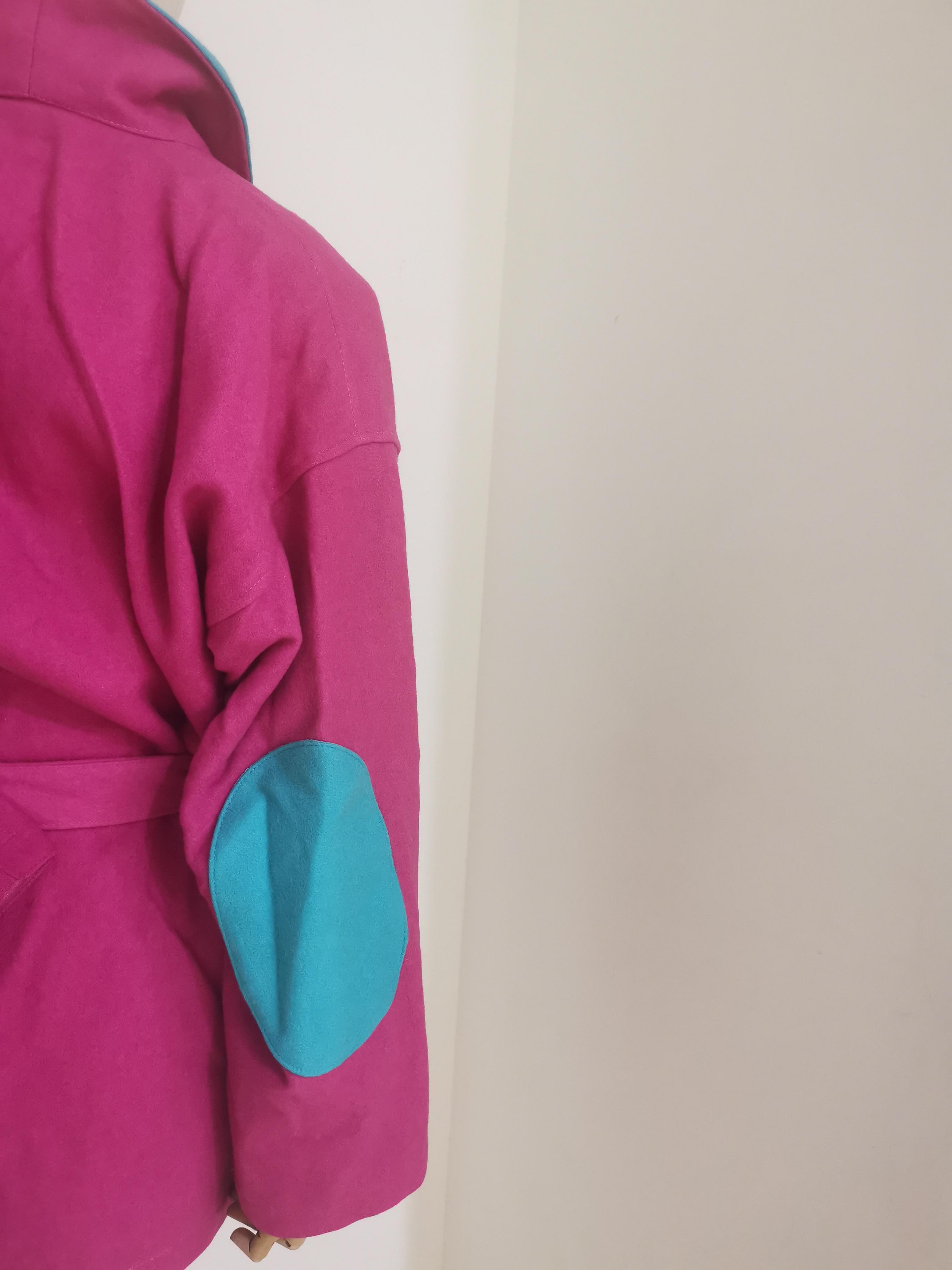 J.C de Castelbajac fucsia light blue coat J.C. de Castelbajac | Cappotto | VXR01820XSAQZMULTI