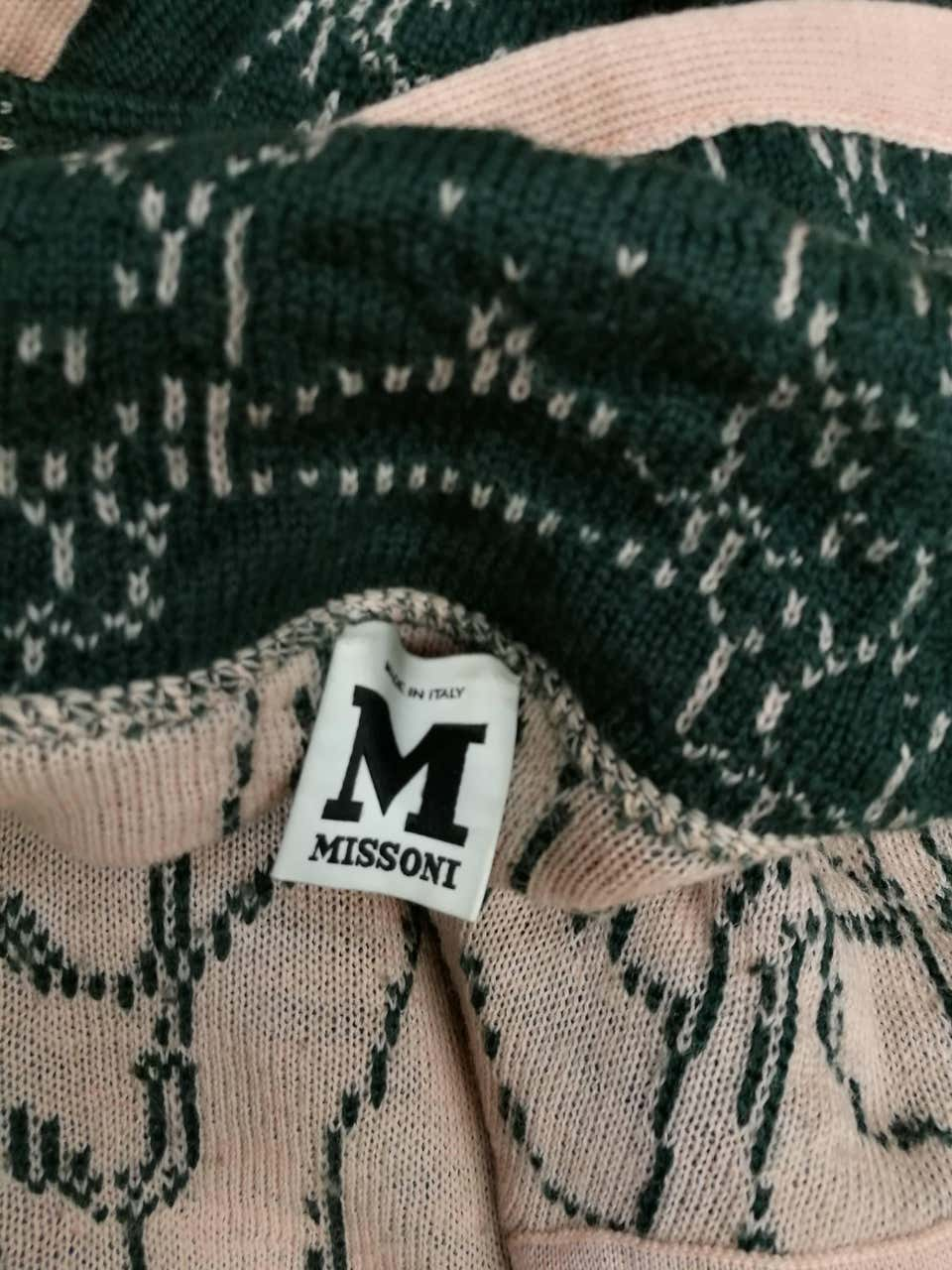 M by Missoni Green Pink Wool Coat Missoni | Cappotto | VXR016090VERDE