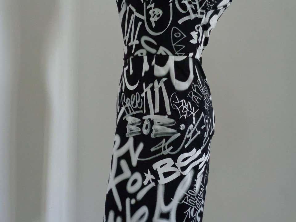 Moschino Couture Black White Graffiti Dress NWOT Moschino | Dresses | AF017150BIANCO NERO