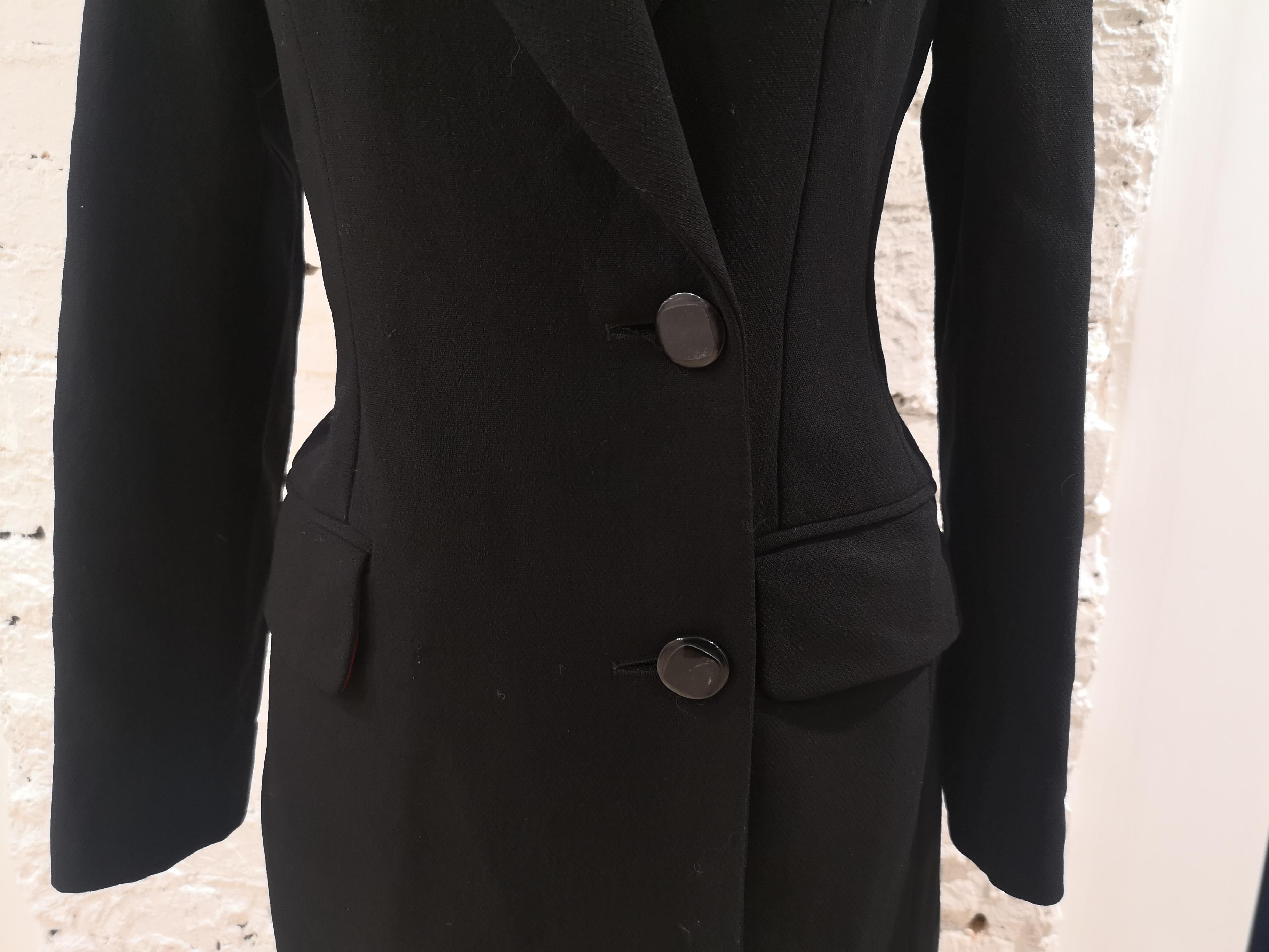 Moschino black wool long coat Moschino   Coats   VXR016025NERO