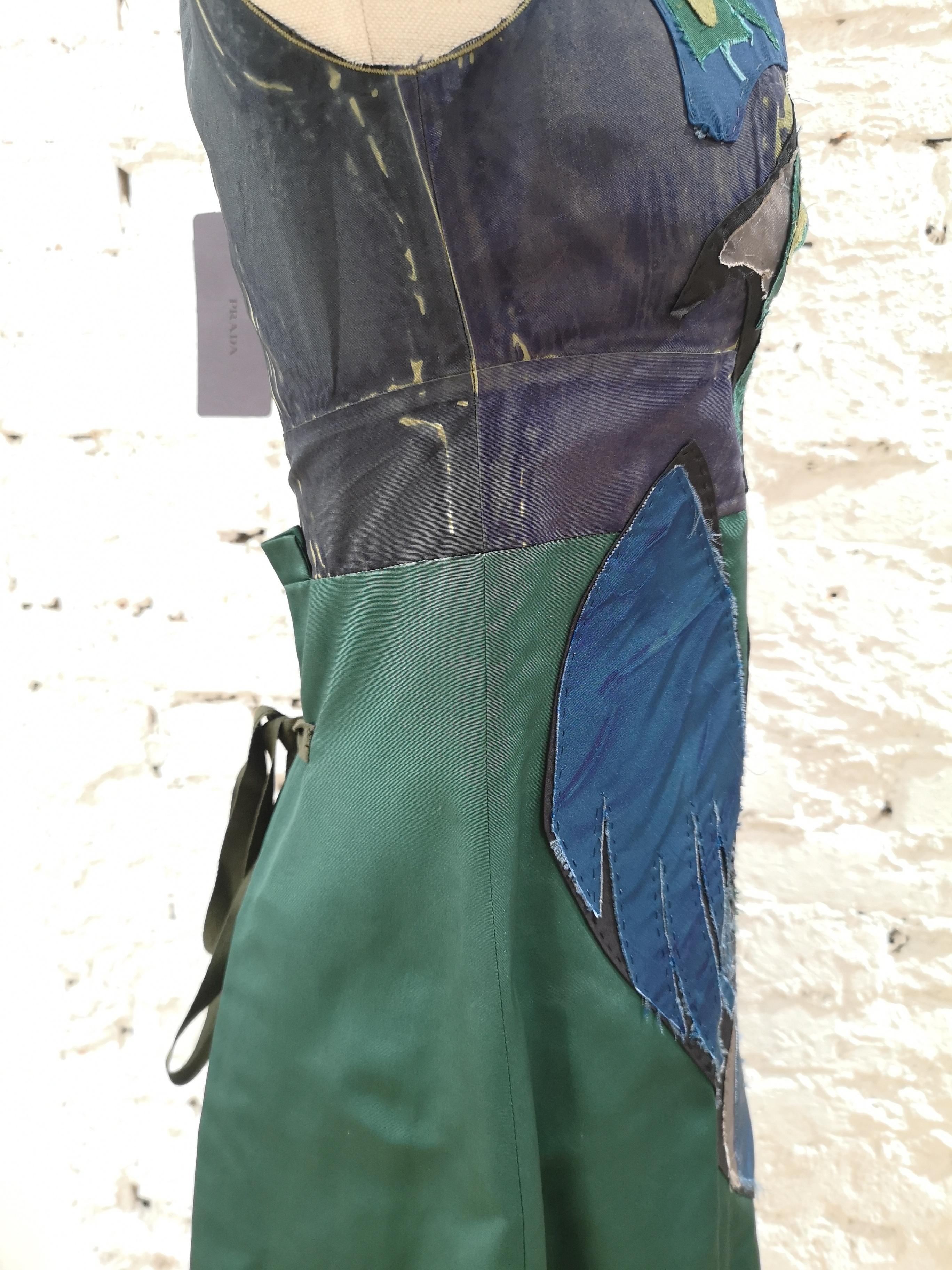 Prada Faille Blue bird Dress NWOT Prada | Dresses | BF018120XDSVERDE BLU
