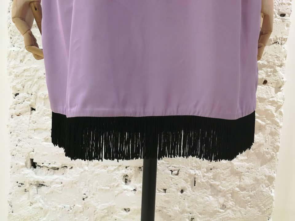Versace Light Purple Black fringed Dress NWOT Versace | Dresses | FG02A010ET5LILLA