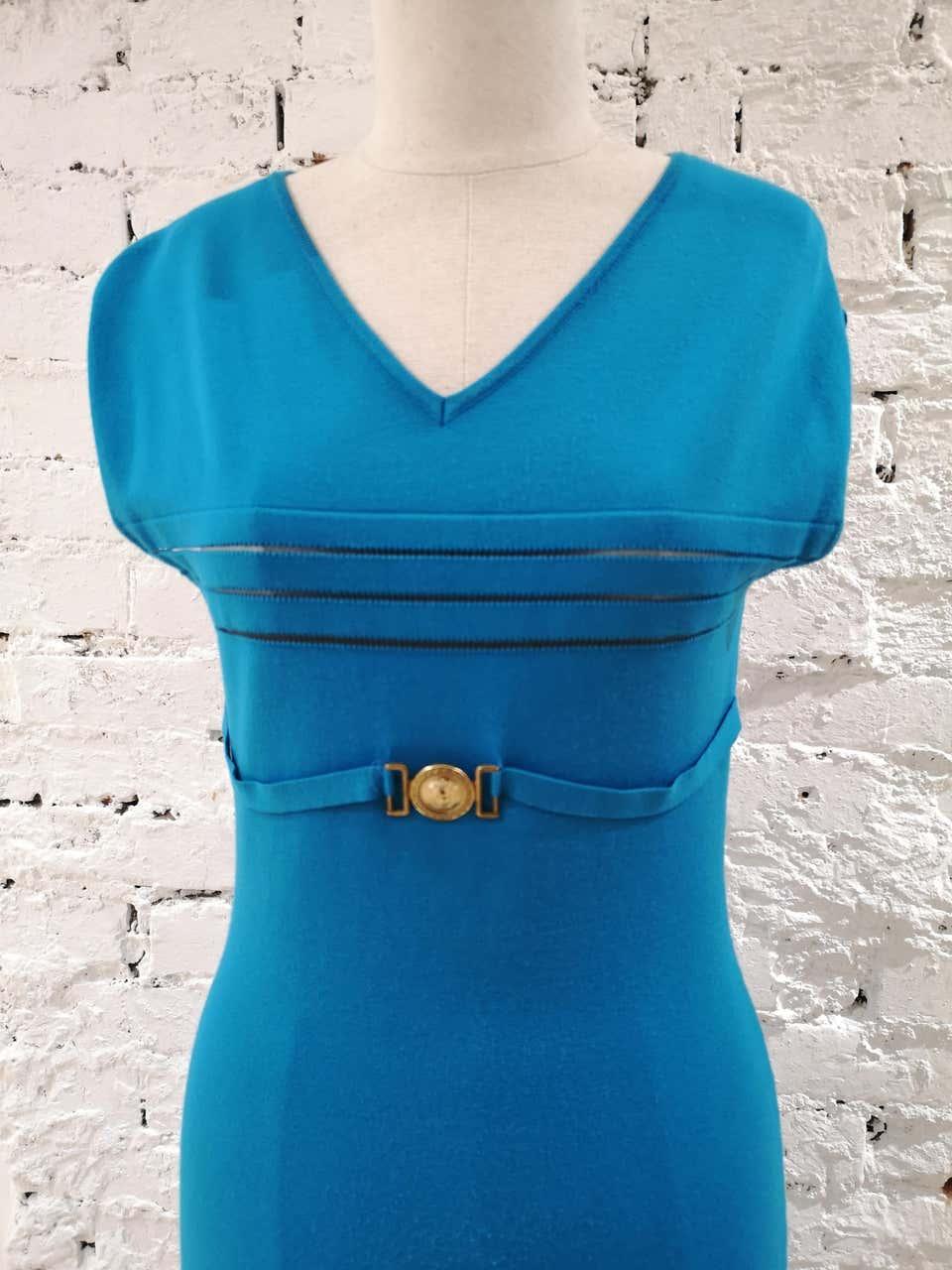 Versace Collecction Blue Dress NWOT Versace | Dresses | FG02A090ETBLU