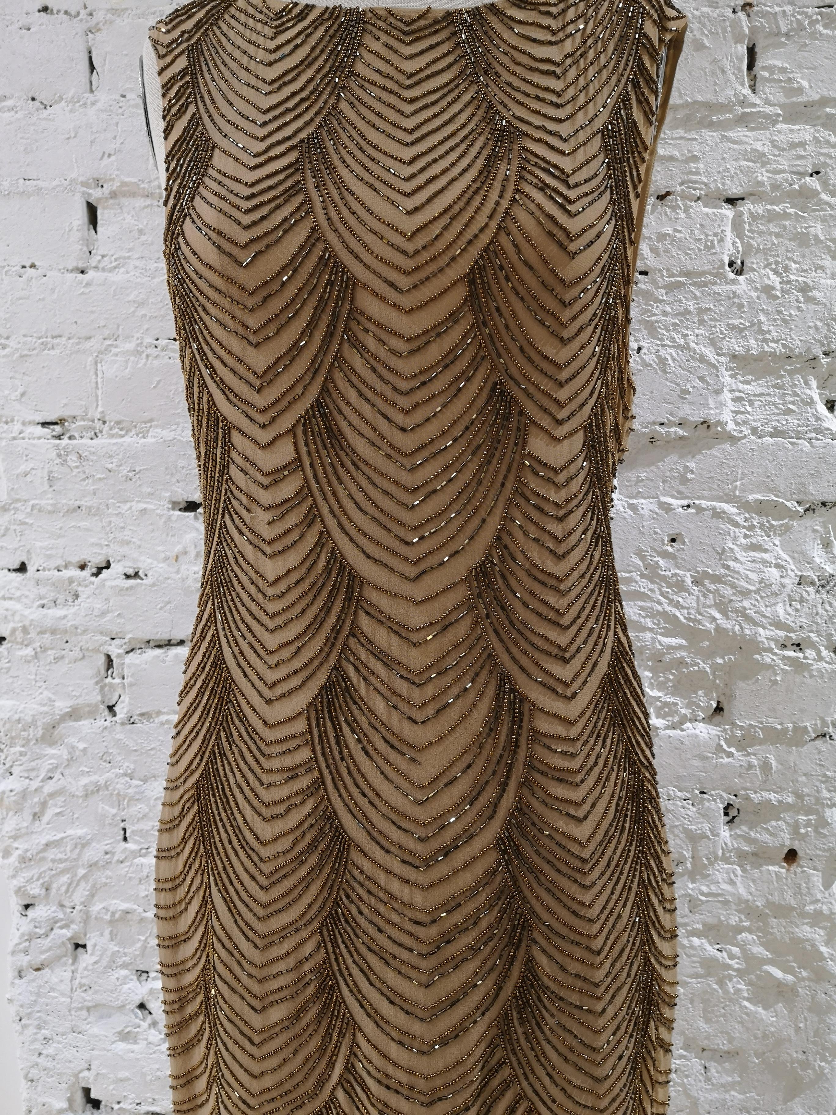 Nude silk tone with beads Dress VIntage | Dresses | EC019100XSÈPalice olivia